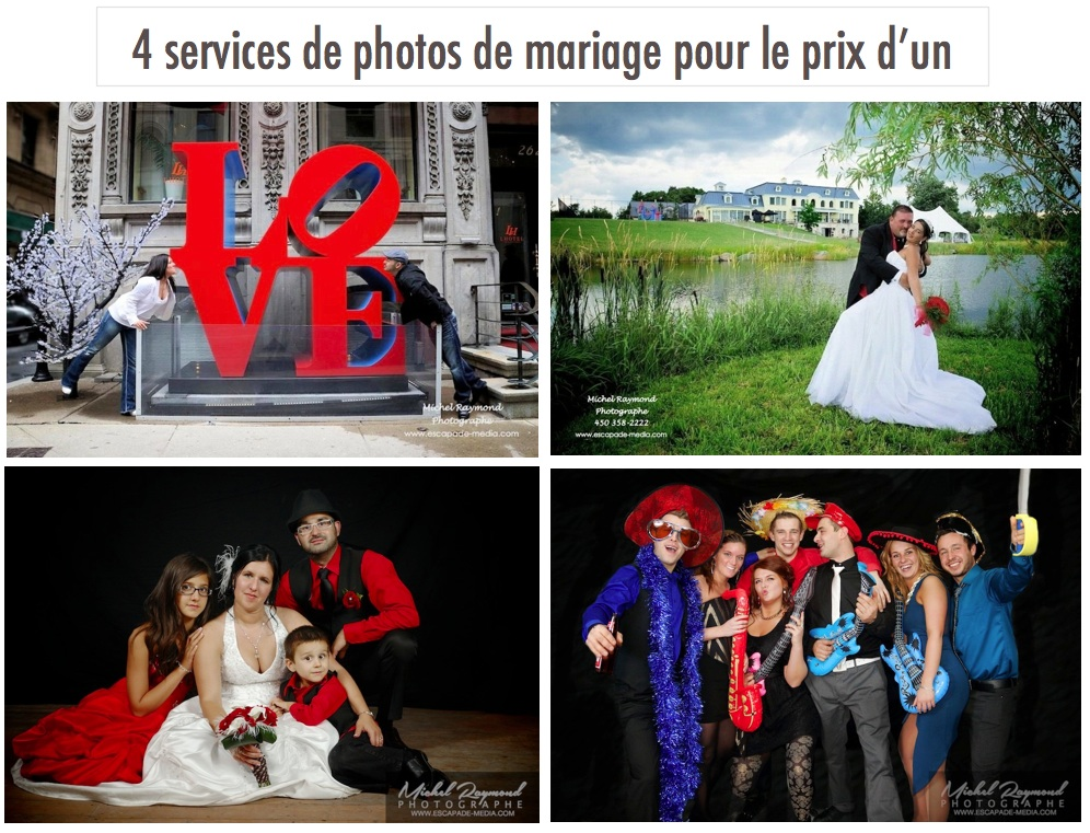 promotion pour mariage 2016 photographe michel raymond. Black Bedroom Furniture Sets. Home Design Ideas