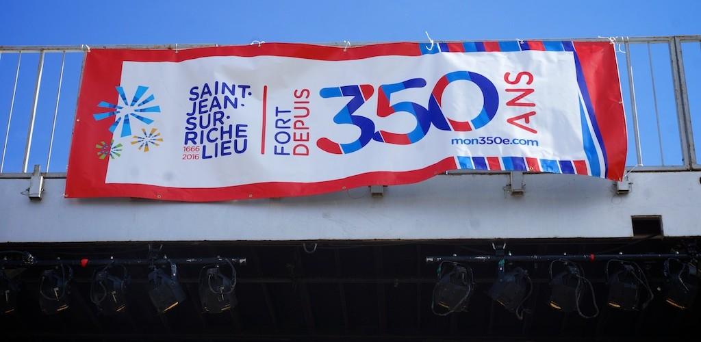 logo du 350e fêtes de Saint-Jean-sur-Richelieu