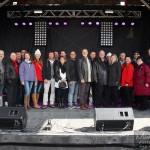 le maire Michel Fecteau et son équipe au 350 fêtes saint-jean