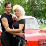 Couple déguisé en Grease