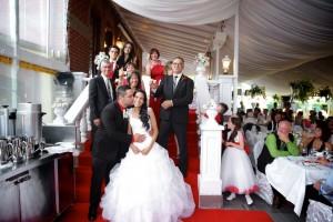 photo des mariés et parents