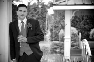 photo portrait de mariage en noir et blanc