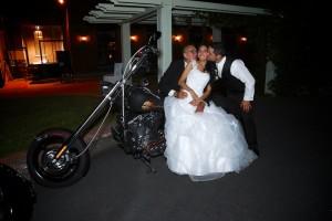 les marié sur la moto