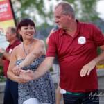 Couple dans la salsa dans le Vieux Saint-Jean