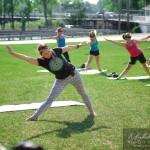 Yoga en plein air dans le Vieux Saint-Jean