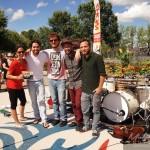 Kkarine Charest avec le groupe Jeffrey Piton