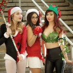3 jolies demoiselles à comiccon de Montréal